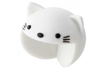 Silikonová ochrana rohů Kočička, bílá, KX7441_1