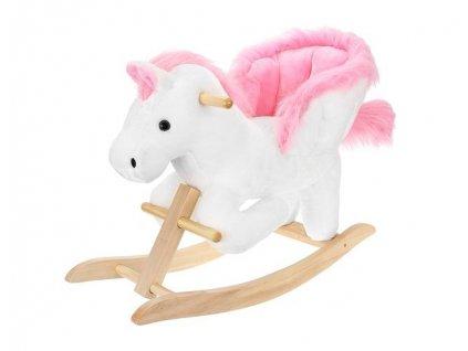 Kruzzel Houpací kůň se zvuky 70 cm, růžovo bílý, 9341