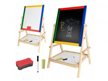 Multifunkční oboustranná tabule pro děti 42x35cm, 8905