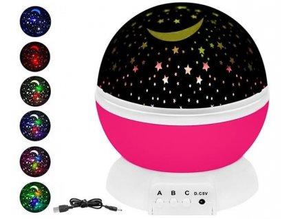 Projektor noční oblohy, růžová, 8974