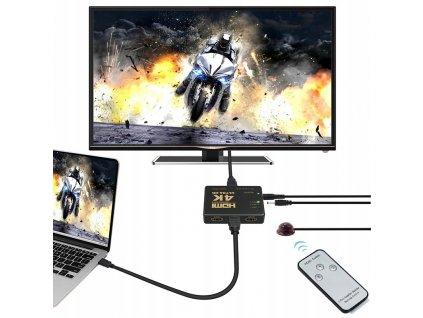 HDMI 4K přepínač s dálkovým ovládáním, 9709