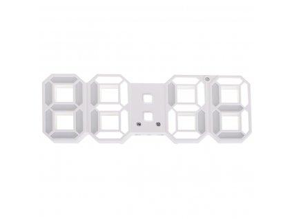 Digitální LED hodiny, bílá, KX7451