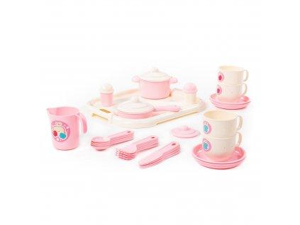 WADER 80493 Dětské nádobí s podnosem, KX6609