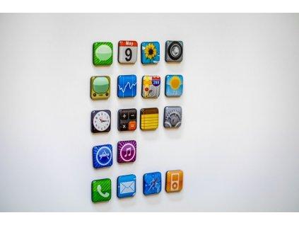 eng pl iPhone Apps Fridge Magnet Set 377 5