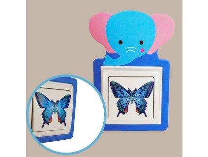 Nalepovací dekorace na vypínač - slon