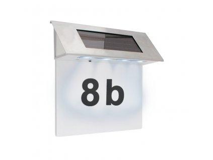 Solární osvětlení domovního čísla 17 x 13 cm