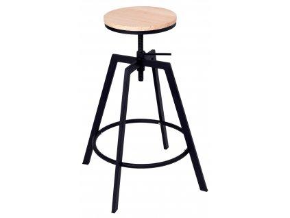 Barová stolička TRAVIS, černá