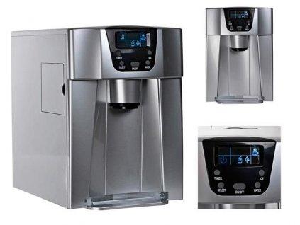 Výrobník ledu s dispenzerem vody 12Kg/24h šedý, 9815
