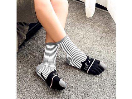 Prstové ponožky - kočky