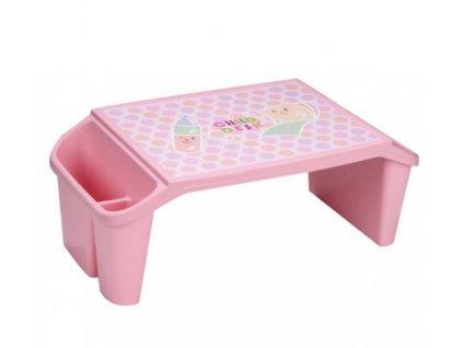 Jídelní stolek pro děti i dospělé, růžová