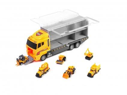 Kamion s autíčky STAVEBNÍ STROJE, KX6681_3
