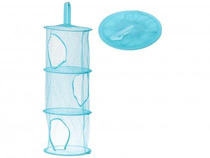 Závěsný organizér na hračky se třemi policemi - modrý, KX9715_5