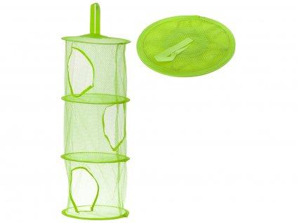 Závěsný organizér na hračky se třemi policemi, zelený, KX9715_6
