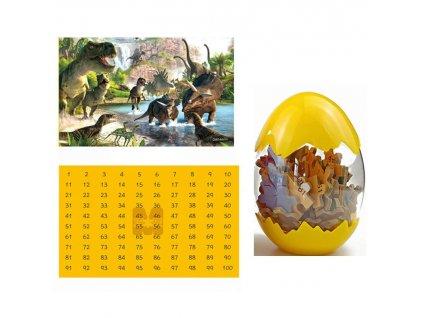 Dinosauří puzzle - žluté