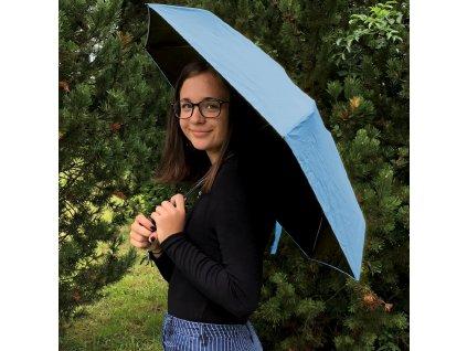 Skládací deštník - modrý