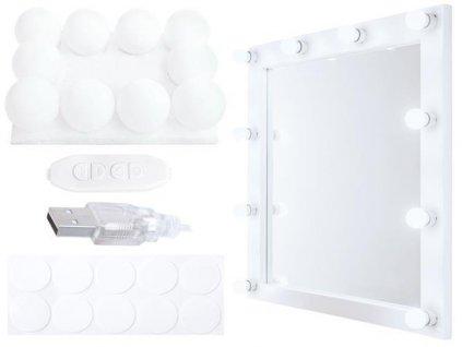 Led světla na zrcadlo k toaletnímu stolku 10ks, 10529