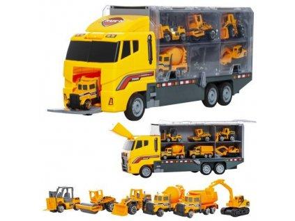 Kamion se 6 autíčky stavebnictví, 10764