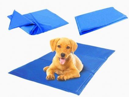 Chladicí podložka pro psa nebo kočku 50x90 cm, modrá, 10937
