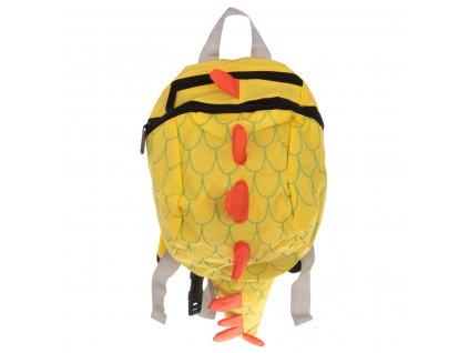Dětský voděodolný batoh Dinosaurus žlutý, KX7435_2