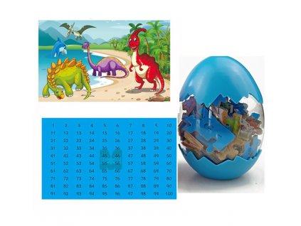 0033197 dinosauri puzzle modre