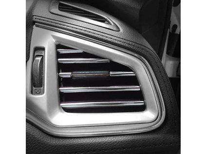 Dekorační lišty na ventilační mřížku auta - stříbrná