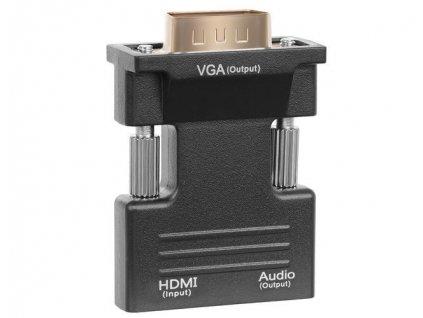 Převodník HDMI na VGA D-SUB, audio výstup, 10722