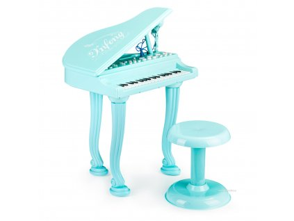 Fortepian organki keyboard pianino s mikrofonem mp3, modrá HC490481