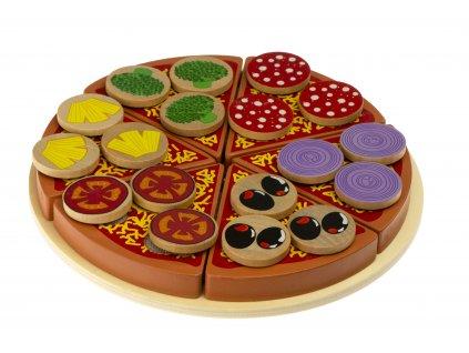 Pizza drewniany zestaw do zabawy z akcesoriami 2
