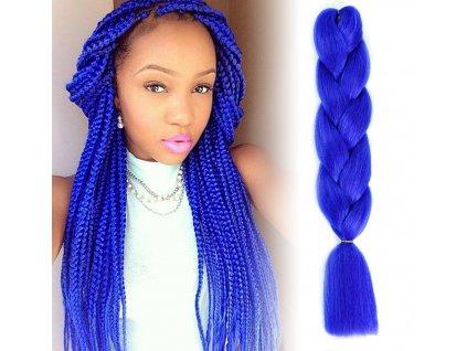 Vlasový příčesek - tmavě modrý