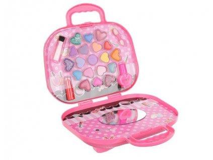 ISO 11413 Líčidla pro děti v kufříku, růžová
