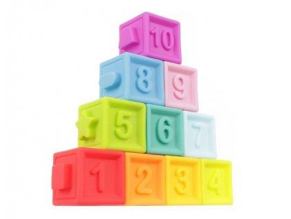 Měkké senzorické hrací kostky 10 ks, 11402