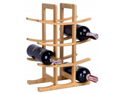 Stojak na wino bambusowy