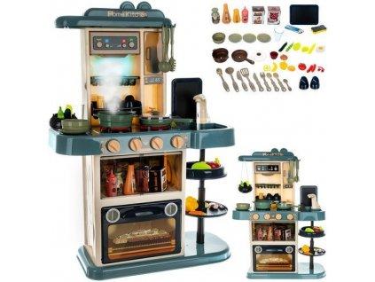 Dětská kuchyňka XL se zvuky a tekoucí vodou modrá, 11546