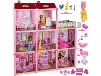 Plastový domeček pro panenky s panenkou a příslušenstvím, 11410