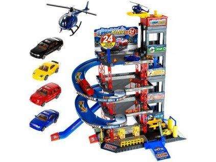 Čtyřpatrová garáž parkoviště dráha + 4 auta, helikoptéra, 11606