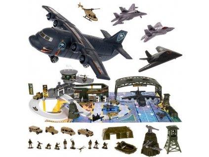 Dětské vojenské letiště s letadly a příslušenstvím XXL, 11399