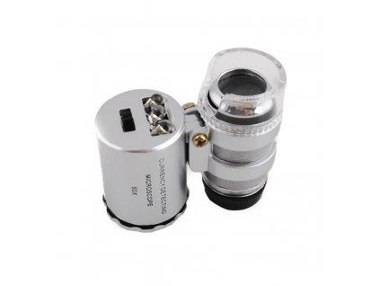 Kapesní mikroskop, lupa 60x, 09068