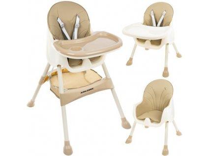 Jídelní židlička 3 v 1 béžová, 12060