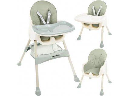Jídelní židlička 3 v 1 zelená, 12059
