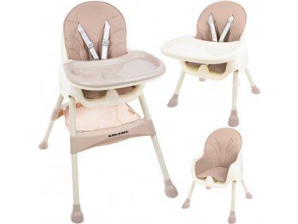 Jídelní židlička 3 v 1 růžová, 12058