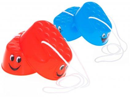 Dětské plastové chůdy 16 x 11,5 x 6,5 cm 2ks, KX6174