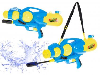 Vodní pistole 60 cm, 2400 ml - modro-žlutá, KX6186_1