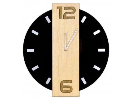 Zegar scienny NERO czarny