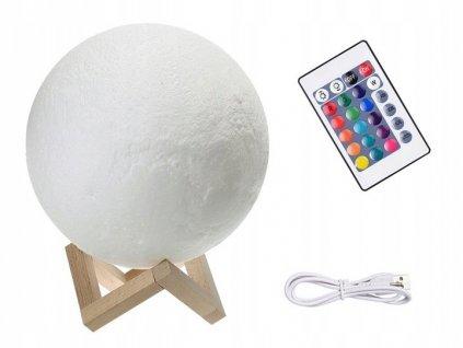 LAMPKA NOCNA KSIEZYC KOLOROWA RGB USB AKUMULATOR