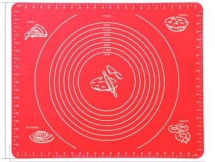 Silikonový vál 40x30cm - červený