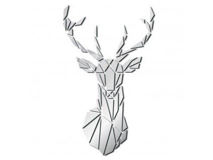 0054390 zrcadlova samolepka na zed jelen