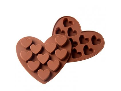 0054311 silikonova forma na cokoladu srdce