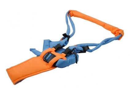 Chodící popruhy - kšíry, oranžovo - modrá