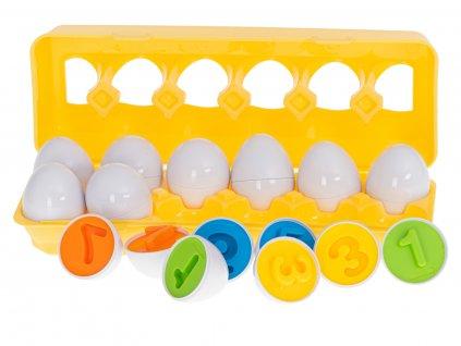 Dětská skládačka Vajíčka s čísly 12 ks, KX5964