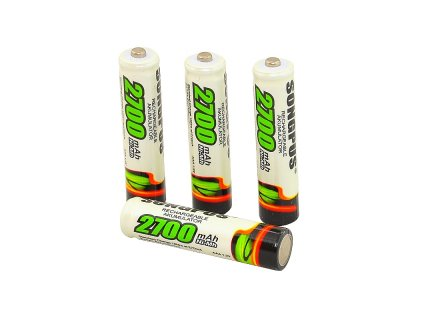 4ks tužkové nabíjecí baterie AAA kapacita 2700 mAh